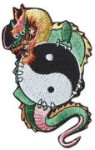 Yin Yang Dragon Patch