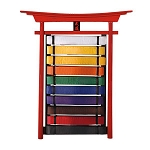 Wall Solid Wood Karate Belt Display Rack Holder