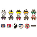 Cloisonne Martial art Pins
