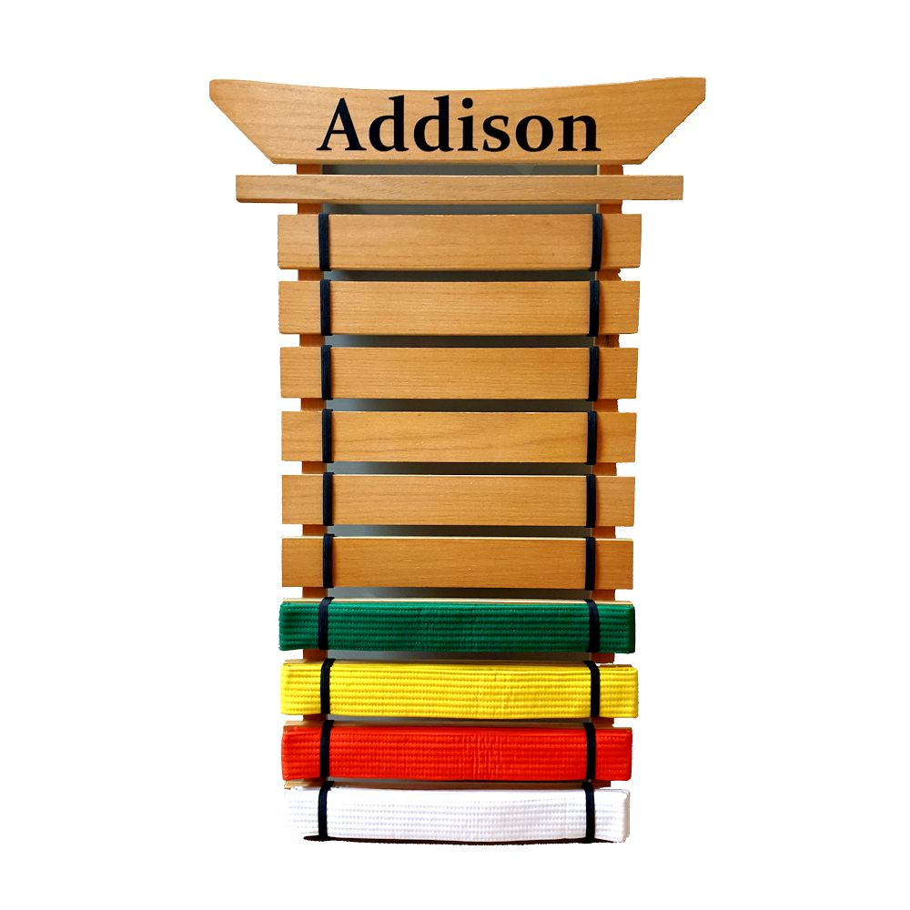 Personalized Asian Top Martial Arts Belt Holder 10 Level