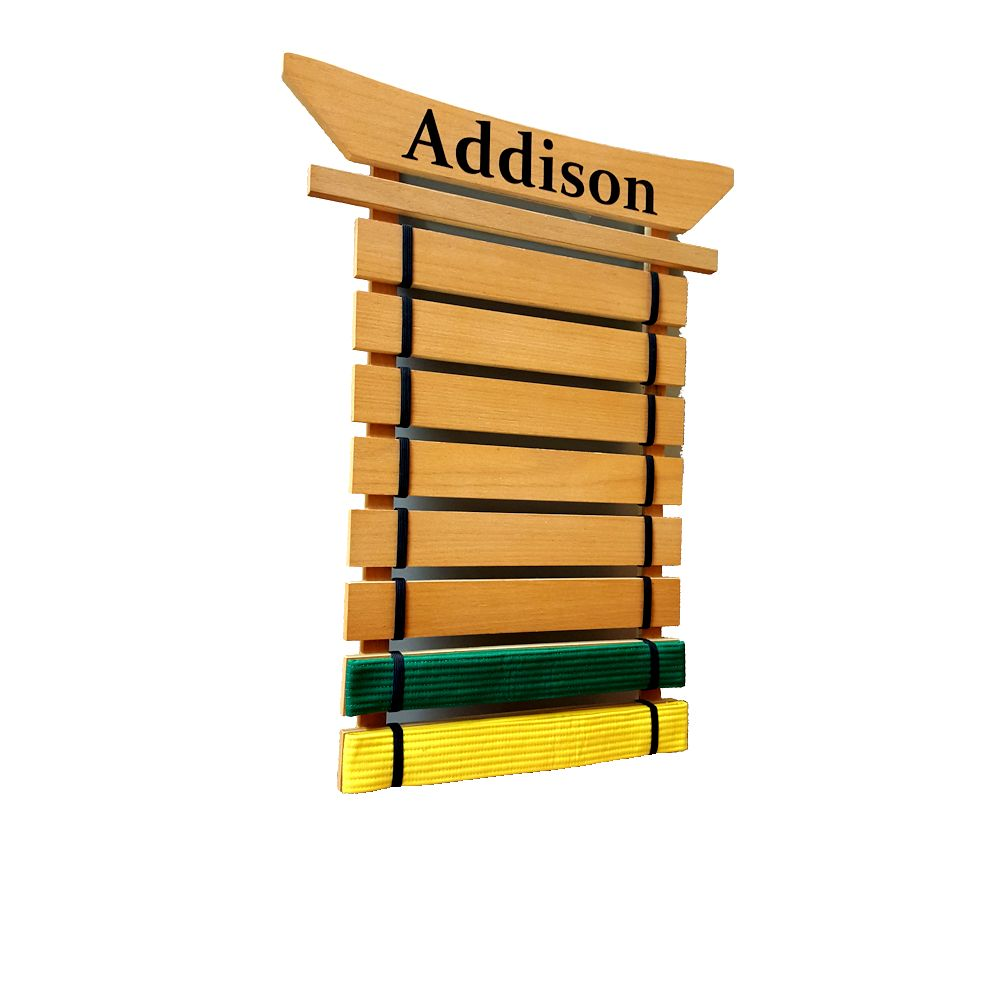 Martial Arts Belt Holder - Personalize this product