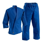 Blue Deluxe Single Weave Judo Uniform