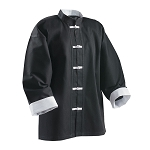 Kung Fu Uniform Top White Buttons