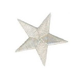 10pak. Silver Star Patches - Small