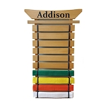 Asian Top Martial Arts Belt Holder - 10 Level