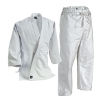 White Deluxe Single Weave Judo Uniform