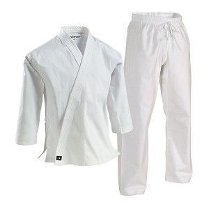 White Super Middleweight Brushed Cotton Martial Arts Uniform
