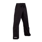 Black Middleweight Brushed Cotton Karate Pants with Pockets