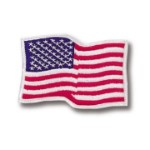 Waving American Flag Patch