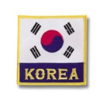 Korean Flag Deluxe Patch