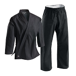 Black Super Middleweight Brushed Cotton Martial Arts Uniform