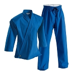 Blue Super Middleweight Brushed Cotton Martial Arts Uniform