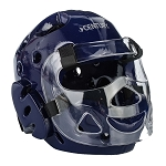 Blue Full Sparring Headgear with Face Shield