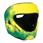 C-Gear Washable Karate Headgear - Green-Yellow