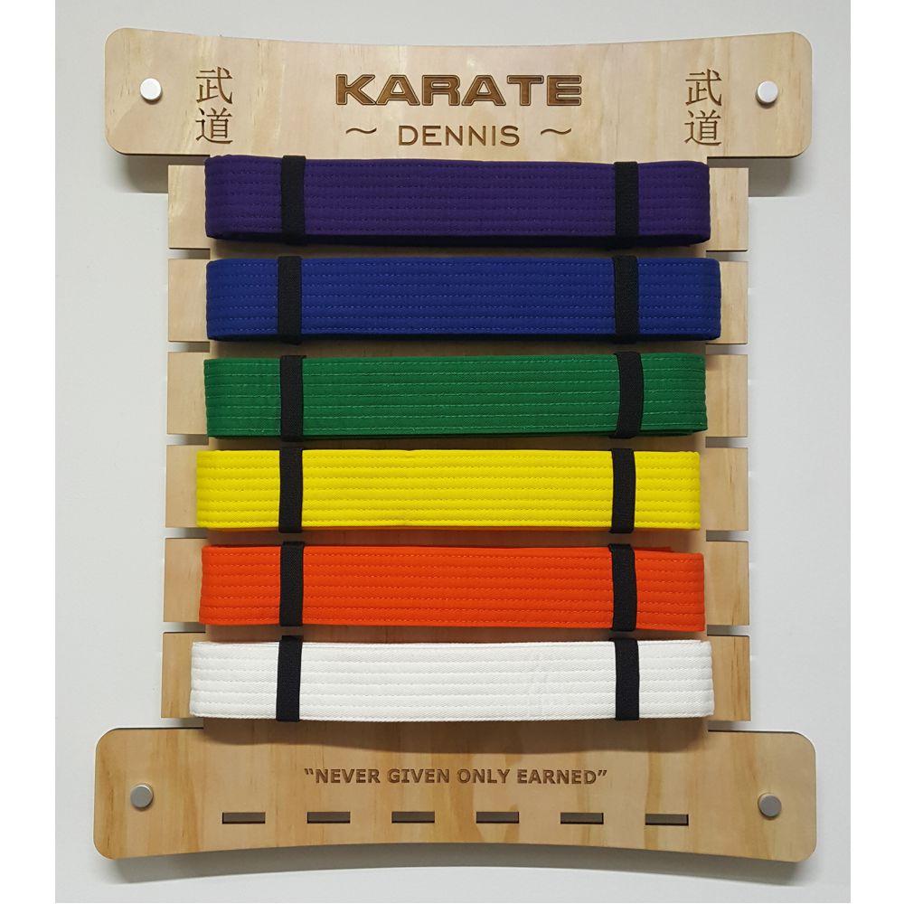 Martial Arts 12 Level Taekwondo Karate Jiu Jitsu  Belt Display