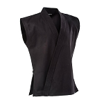 Black 8 oz. Middleweight Sleeveless Karate Jacket