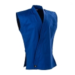 Blue 8 oz. Middleweight Sleeveless Karate Jacket