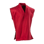 Red 8 oz. Middleweight Sleeveless Karate Jacket