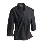 Black Super Middleweight 10 oz Brushed Cotton Traditional Karate Jacket
