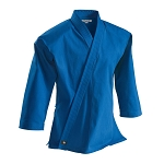Blue Super Middleweight 10 oz Brushed Cotton Traditional Karate Jacket