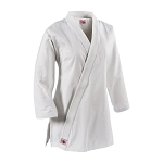 White 8 oz Women's Extended Length Traditional Karate Gi Jacket