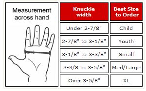 Sparring Gloves Size Chart