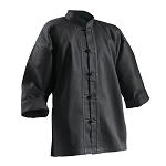 Kung Fu Uniform Top Black Buttons