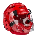Red Full Sparring HeadGear with Face Shield