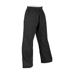 Black 10 oz. Middleweight Elastic Waist Unhemmed Karate Gi Pants