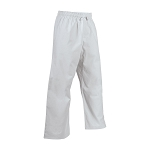 White 10 oz. Middleweight Elastic Waist Unhemmed Pants