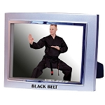 Black Belt Metallic Picture Frame