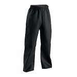Black Student Karate Pants Elastic Waist