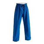 Blue Brushed Cotton Elastic Waist Karate Pants - 8 oz