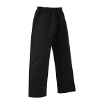 EasyFit Elastic Waist Karate Pants - Black