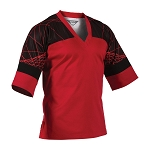 Red WIth Black Electric EasyFit Pullover Uniform Top