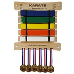 Personalized Taekwondo Belt Display