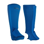 Karate Sparring Shin Instep Pads - Blue