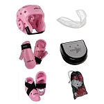 Pink Sparring Gear Set with Bag