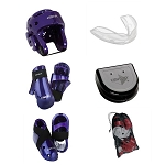Purple Century Sparring Gear Set with Bag