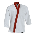 White with Red Traditional Tang Soo Do Jacket