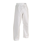 White Brushed Cotton Elastic Waist Karate Pants - 8 oz