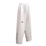 White Elite Poly Cotton Martial Arts Pants