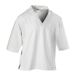 White 8 oz V-Neck Pullover Karate Gi Top