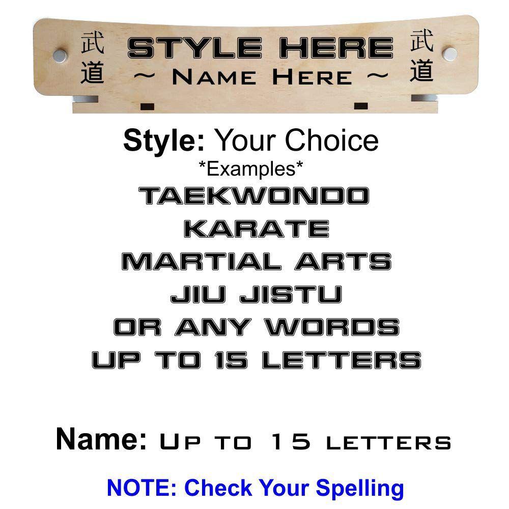 Karate Jiu Jitsu  Belt Display Martial Arts 12 Level Taekwondo