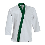 White with Green Traditional Tang Soo Do Jacket