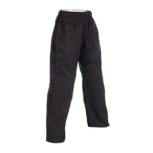 Black 10 oz. Women's Elastic Waist Karate Gi Pants