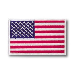 American Flag w/ White Trim Patch