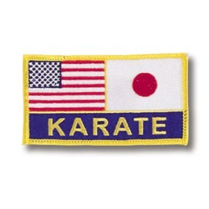US-Japan Flags/Karate Patch