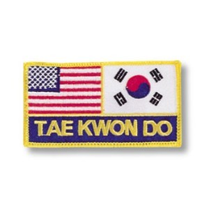 US-Korea Flags/Tae Kwon Do Patch