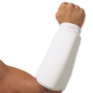White Martial Arts Forearm Protect Pads
